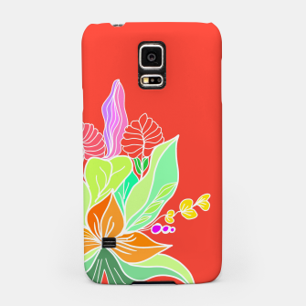 Thumbnail image of Colourful floral illustration on popcolors Samsung Case, Live Heroes