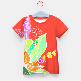 Thumbnail image of Colourful floral illustration on popcolors Kid's t-shirt, Live Heroes