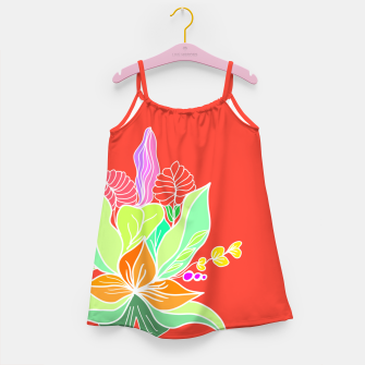 Thumbnail image of Colourful floral illustration on popcolors Girl's dress, Live Heroes