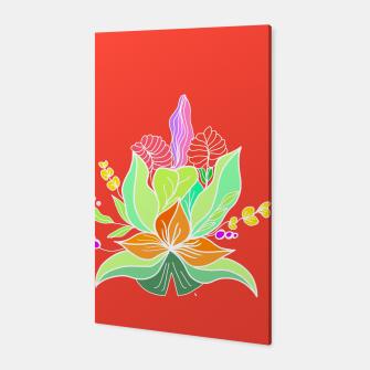Thumbnail image of Colourful floral illustration on popcolors Canvas, Live Heroes