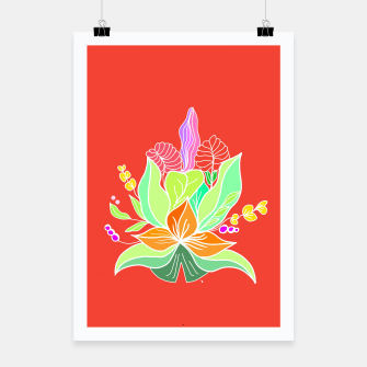 Thumbnail image of Colourful floral illustration on popcolors Poster, Live Heroes