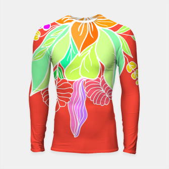 Thumbnail image of Colourful floral illustration on popcolors Longsleeve rashguard , Live Heroes