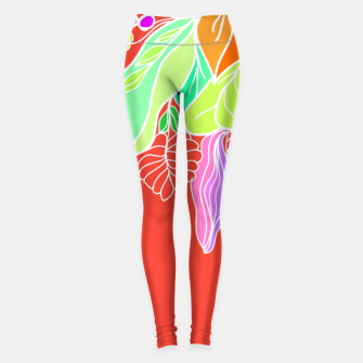 Thumbnail image of Colourful floral illustration on popcolors Leggings, Live Heroes
