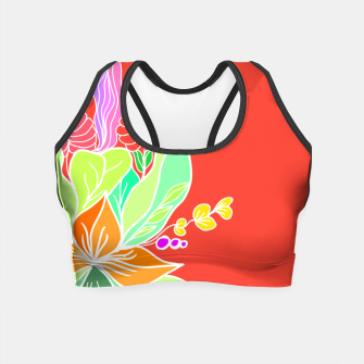 Thumbnail image of Colourful floral illustration on popcolors Crop Top, Live Heroes