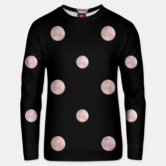 Thumbnail image of Happy Polka Dots Rose Gold on Black #1 #decor #art Unisex sweatshirt, Live Heroes