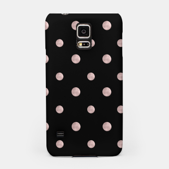 Happy Polka Dots Rose Gold on Black #1 #decor #art Handyhülle für Samsung obraz miniatury
