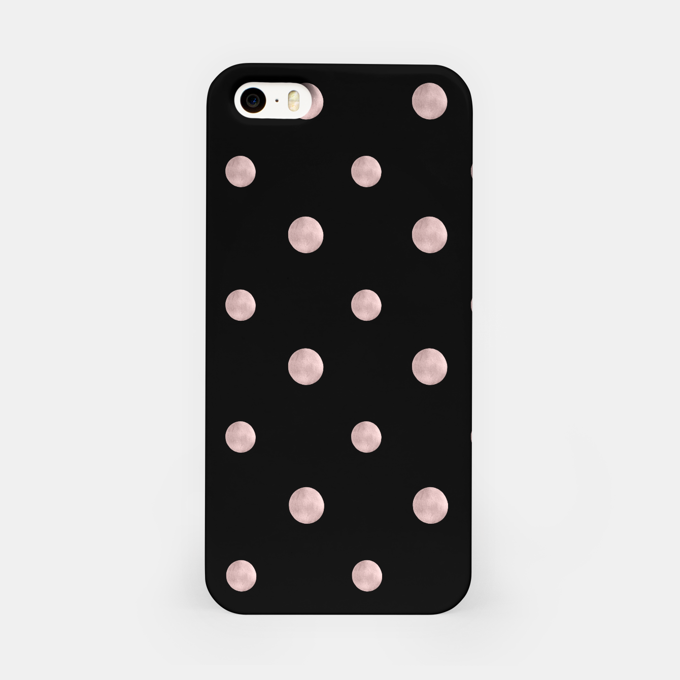 Zdjęcie Happy Polka Dots Rose Gold on Black #1 #decor #art iPhone-Hülle - Live Heroes