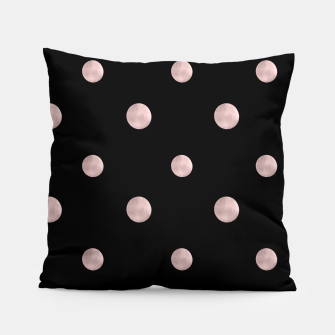 Happy Polka Dots Rose Gold on Black #1 #decor #art Kissen obraz miniatury