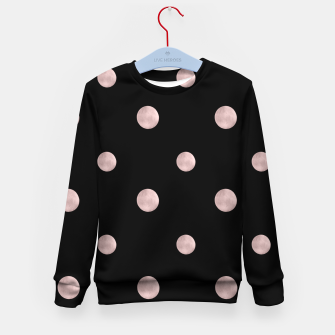 Happy Polka Dots Rose Gold on Black #1 #decor #art Kindersweatshirt obraz miniatury
