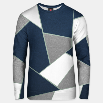 Thumbnail image of Navy Blue Gray White Mint Geometric Glam #1 #geo #decor #art Unisex sweatshirt, Live Heroes