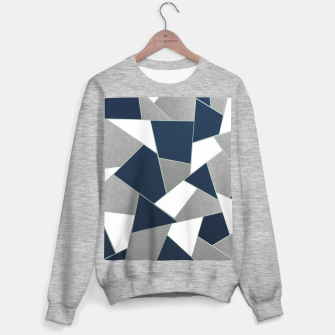 Thumbnail image of Navy Blue Gray White Mint Geometric Glam #1 #geo #decor #art Sweatshirt regulär, Live Heroes