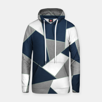 Thumbnail image of Navy Blue Gray White Mint Geometric Glam #1 #geo #decor #art Kapuzenpullover, Live Heroes