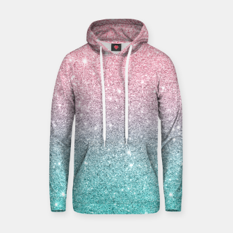 Miniatur Pink and turquoise ombre glitter texture Hoodie, Live Heroes