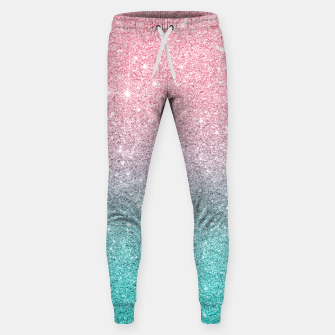Thumbnail image of Pink and turquoise ombre glitter texture Sweatpants, Live Heroes