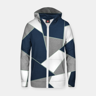 Thumbnail image of Navy Blue Gray White Mint Geometric Glam #1 #geo #decor #art Reißverschluss kapuzenpullover, Live Heroes