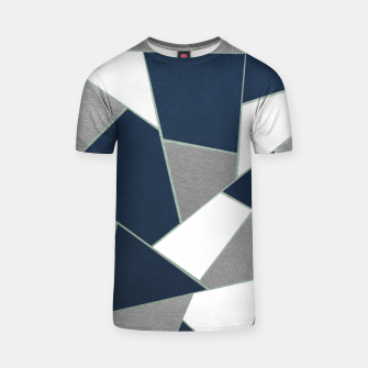 Thumbnail image of Navy Blue Gray White Mint Geometric Glam #1 #geo #decor #art T-Shirt, Live Heroes