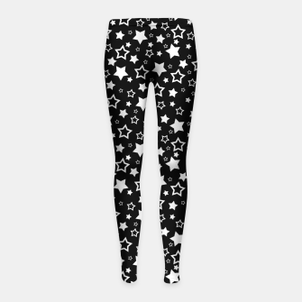 Miniatur Dark Star Pattern Kinder-Leggins, Live Heroes