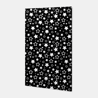 Miniatur Dark Star Pattern Canvas, Live Heroes