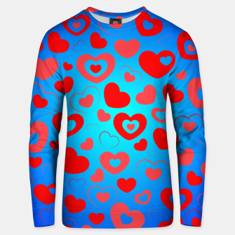 Thumbnail image of Love in Blue Unisex sweater, Live Heroes
