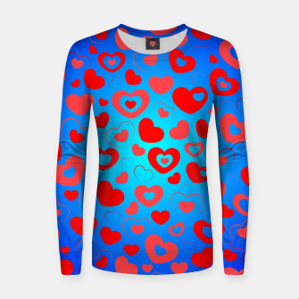 Thumbnail image of Love in Blue Women sweater, Live Heroes