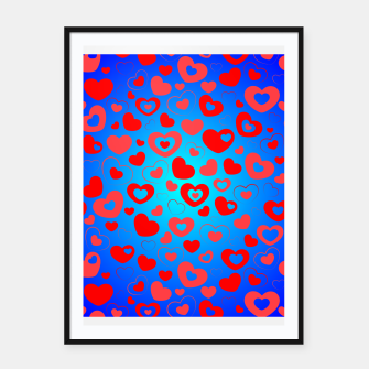 Thumbnail image of Love in Blue Framed poster, Live Heroes