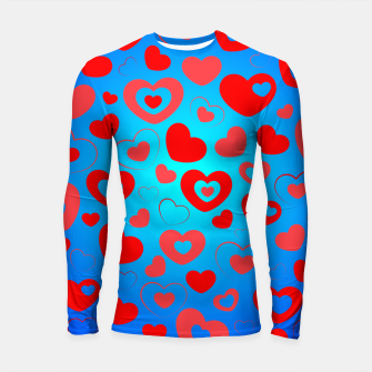 Thumbnail image of Love in Blue Longsleeve rashguard , Live Heroes
