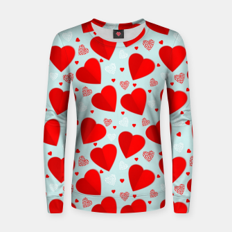 Thumbnail image of Valantine Hearts Women sweater, Live Heroes