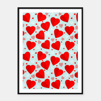 Thumbnail image of Valantine Hearts Framed poster, Live Heroes