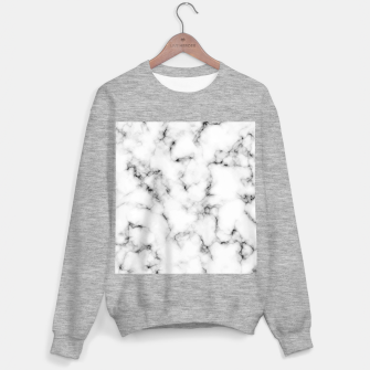 Thumbnail image of White faux marble Sweater regular, Live Heroes