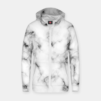 Thumbnail image of White faux marble Zip up hoodie, Live Heroes