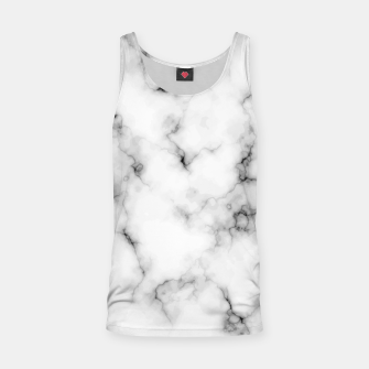Thumbnail image of White faux marble Tank Top, Live Heroes