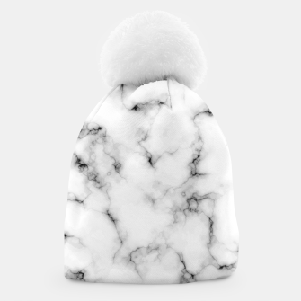 Thumbnail image of White faux marble Beanie, Live Heroes