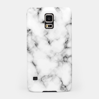 Thumbnail image of White faux marble Samsung Case, Live Heroes