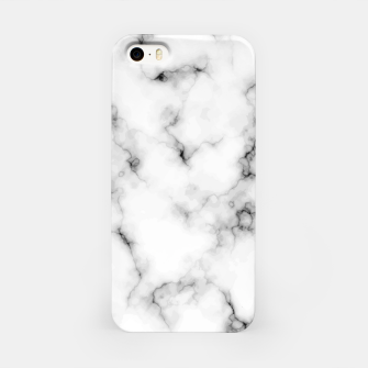 Thumbnail image of White faux marble iPhone Case, Live Heroes
