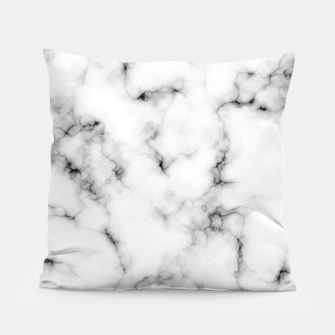 Thumbnail image of White faux marble Pillow, Live Heroes