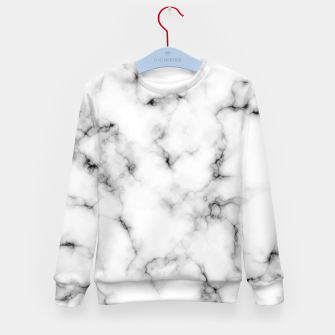 Thumbnail image of White faux marble Kid's sweater, Live Heroes
