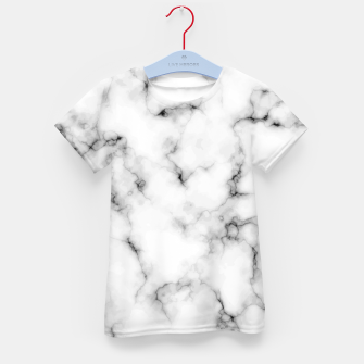 Thumbnail image of White faux marble Kid's t-shirt, Live Heroes