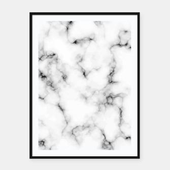 Thumbnail image of White faux marble Framed poster, Live Heroes