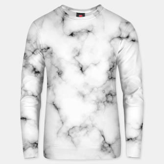 Thumbnail image of White faux marble Unisex sweater, Live Heroes