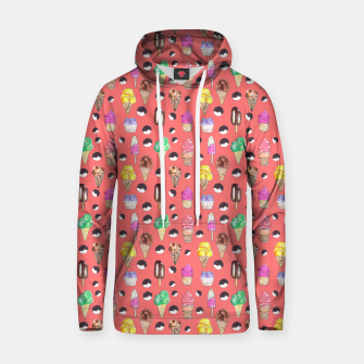 Miniature de image de Ice Cream Pattern-Coral Color Hoodie, Live Heroes