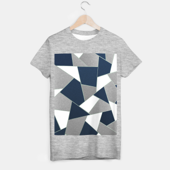 Thumbnail image of Navy Blue Gray White Mint Geometric Glam #1 #geo #decor #art T-Shirt regulär, Live Heroes