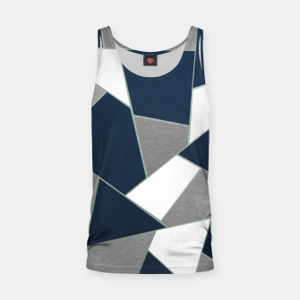 Thumbnail image of Navy Blue Gray White Mint Geometric Glam #1 #geo #decor #art Muskelshirt , Live Heroes