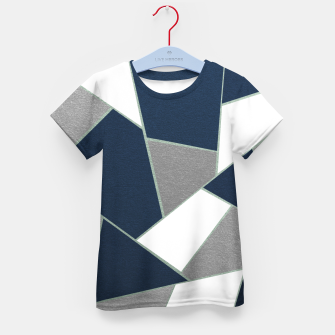 Thumbnail image of Navy Blue Gray White Mint Geometric Glam #1 #geo #decor #art T-Shirt für kinder, Live Heroes