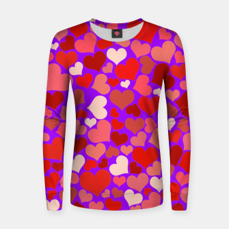 Thumbnail image of Hearts in purple Women sweater, Live Heroes