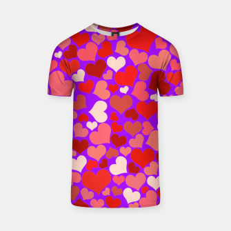 Thumbnail image of Hearts in purple T-shirt, Live Heroes