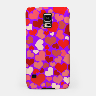 Thumbnail image of Hearts in purple Samsung Case, Live Heroes