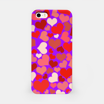 Thumbnail image of Hearts in purple iPhone Case, Live Heroes
