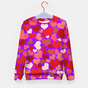 Thumbnail image of Hearts in purple Kid's sweater, Live Heroes