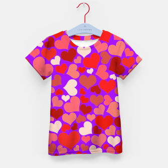 Thumbnail image of Hearts in purple Kid's t-shirt, Live Heroes