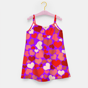 Thumbnail image of Hearts in purple Girl's dress, Live Heroes